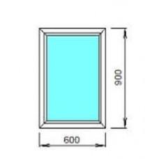 Окно ПВХ ОК-1 0.6х0.9 глухое