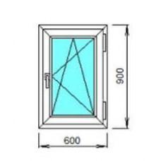 Окно ПВХ ОК-3 0.6х0.9 откидное