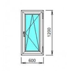 Окно ПВХ ОК-4 0.6х1,2 откидное