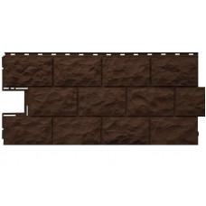 """Панель Фасайдинг Дачный Темно-коричневый """"Доломит"""" 1080х452мм"""