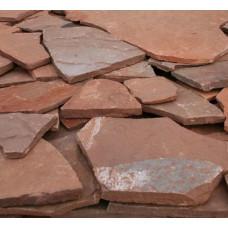 Песчаник плитняк,20 мм(красный)