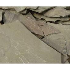 Песчаник плитняк,40-50 мм(серо-зеленый)